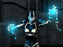 cyborgkvinnlig Royaltyfri Bild