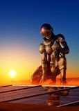 Cyborgmädchen stock abbildung