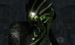 Cyborgportrait Lizenzfreie Stockbilder