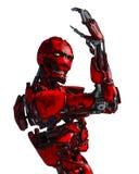 Cyborgrobot in een opdracht vector illustratie