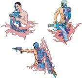 Cyborgs illustration libre de droits