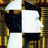 Cyborgs huvud Royaltyfri Fotografi