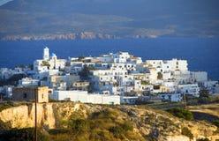 Cycladen-Architektur Insel der Milos griechische Stockbild