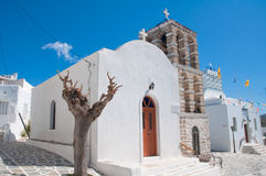 cyclades城镇 免版税库存照片