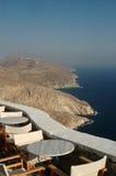 cyclades希腊海岛餐馆海运 免版税库存图片