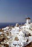 cyclades希腊海岛oia santorini村庄 库存照片