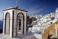 cyclades希腊海岛santorini thira 免版税库存照片