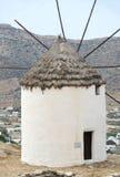cyclades希腊ios海岛风车 免版税库存照片