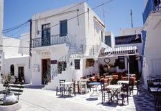 cyclades海岛paros taverna 免版税库存照片