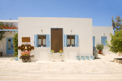 Cyclades architecture Pollonia Milos Royalty Free Stock Images