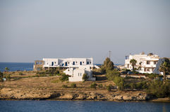 Cyclades greek island architecture on paros island Royalty Free Stock Images