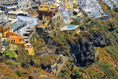 Cyclades island in Greece, Fira Santorini Royalty Free Stock Photo