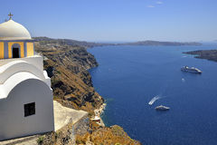 Cyclades island in Greece, Fira Santorini Royalty Free Stock Photography