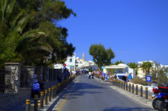 Cyclades street,Greece Stock Photo