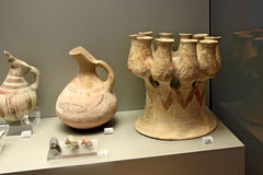 Cycladic art in museum of archaeology, Athens, Greece Stock Photo