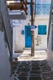 Cycladic błękita drzwi obrazy royalty free