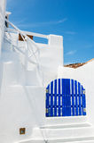Cycladic blue and white architecture Royalty Free Stock Photos