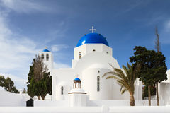 Cycladic church of Firostefani Stock Images