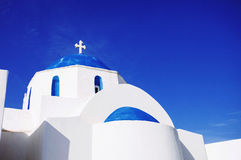 Cycladic church, Greece. Beautiful view of cycladic church , Greek islands Royalty Free Stock Photo