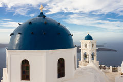 Cycladic church at Imerovigli Stock Image
