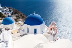 Cycladic church of Oia Royalty Free Stock Images