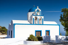 Cycladic church at Santorini Royalty Free Stock Photos