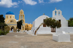 Cycladic churches Stock Images