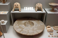 Cycladic craft in museum of archaeology, Athens, Greece Stock Photos