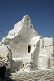 Cycladic Kirche. Mykonos Stockfoto