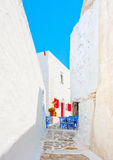 Cycladic road Royalty Free Stock Images