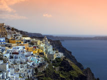 Cycladic village Stock Image