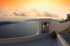 Cycladic village Stock Images