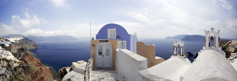 Cycladic village (panorama) Stock Images