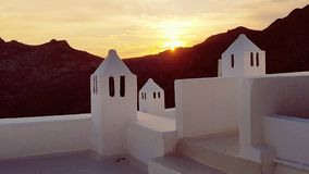 Cycladicarchitectuur op Serifos-eilanden stock foto's