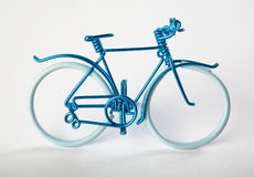Cycle. Miniature stylish blue cycle from wire Royalty Free Stock Photography