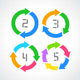 Cycle arrows diagram Stock Images