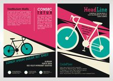 Cycle Brochure, leaflet and Flyer Template Design Royalty Free Stock Photo