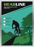 Cycle Brochure - Magazine template design cover Stock Photos