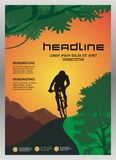 Cycle Brochure - Magazine template design cover Royalty Free Stock Photo