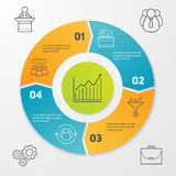 Cycle business infographics Royalty Free Stock Photos