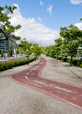 Cycle city lane Stock Photography