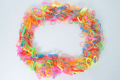 Cycle of colorful hair rubber band. Stock Images