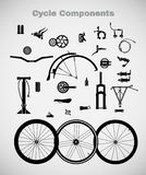 Cycle components. vector illustration