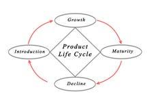 Cycle de vie des produits Photos libres de droits