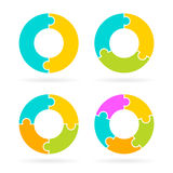 Cycle diagram vector template. S set Royalty Free Stock Photos