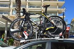 Cycle emballant, Energie direct Team Bikes photographie stock