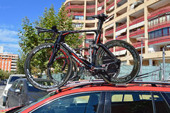 Cycle emballant, loto Soudal Ridley Team Bikes images stock