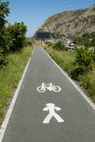 Cycle and foot path. Royalty Free Stock Photos
