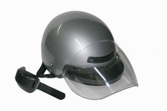 Cycle helmet 3. Safety head gear for riding motorcycles Stock Photos