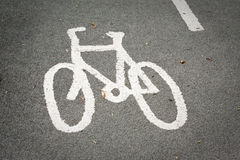 Cycle highway. Road marking in cycle lane Royalty Free Stock Image